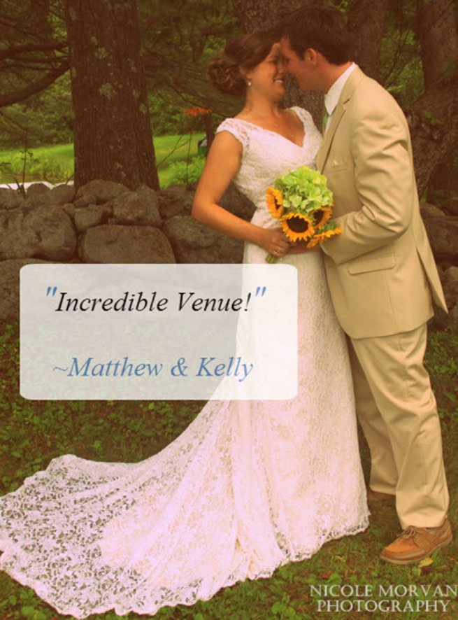Wedding client testimonial printed onto a photo postcard of bride and groom   Kelly Chandler Consulting