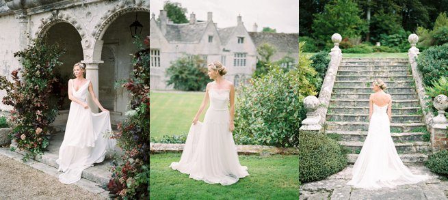 Exterior Warmwell House with bride   Kelly Chandler Consulting