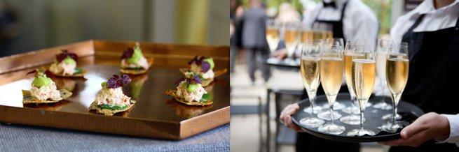 Champagne and canapes   Kelly Chandler Consulting