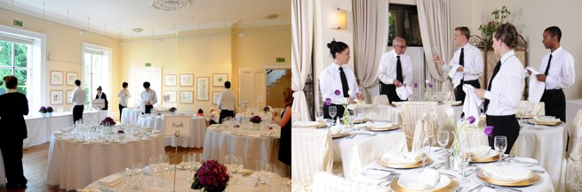 Waitrons setting tables | Kelly Chandler Consulting