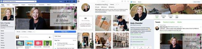 Social media screenshots | Kelly Chandler Consulting