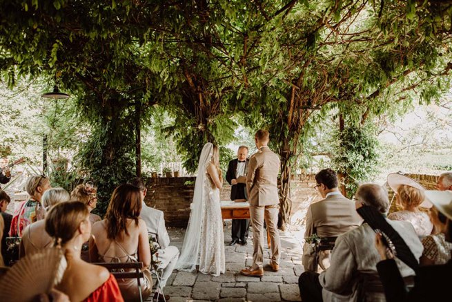 Outdoor bride and groom exchanging vows   Kelly Chandler Consulting