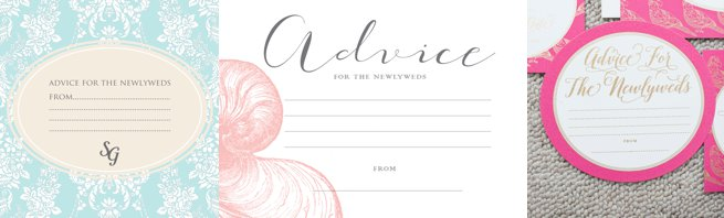 Wedding advice cards | Kelly Chandler Consulting