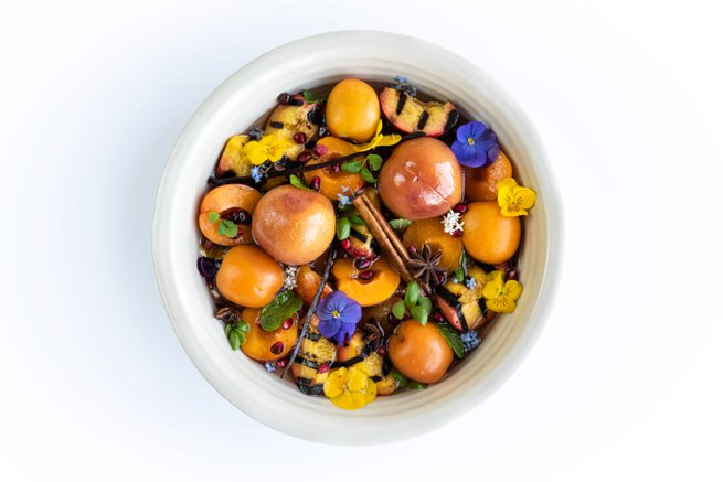 Cardamom, Peaches with Ginger Cinnamon Acacia   Kelly Chandler Consulting