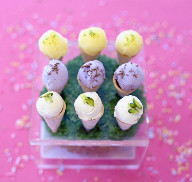 Mini pastel ice cream cream cones | Kelly Chandler Consulting