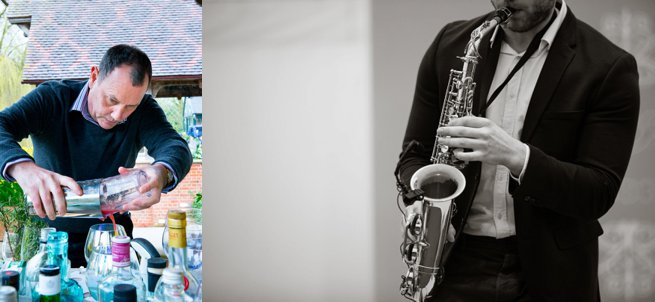 Waddesdon Manor Wedding Venue Showcase Mixologist and Saxophonist | Kelly Chandler Consulting