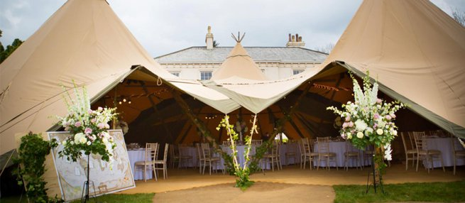 Hallsannery House Teepee Marquee   Kelly Chandler Consulting