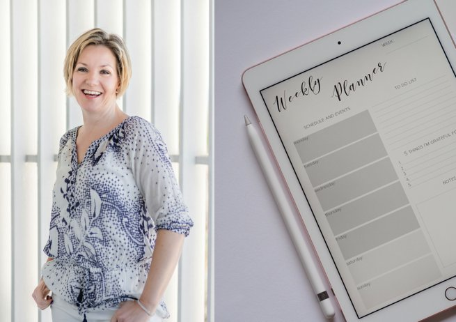 Kelly Chandler and weekly planner   Kelly Chandler Consulting