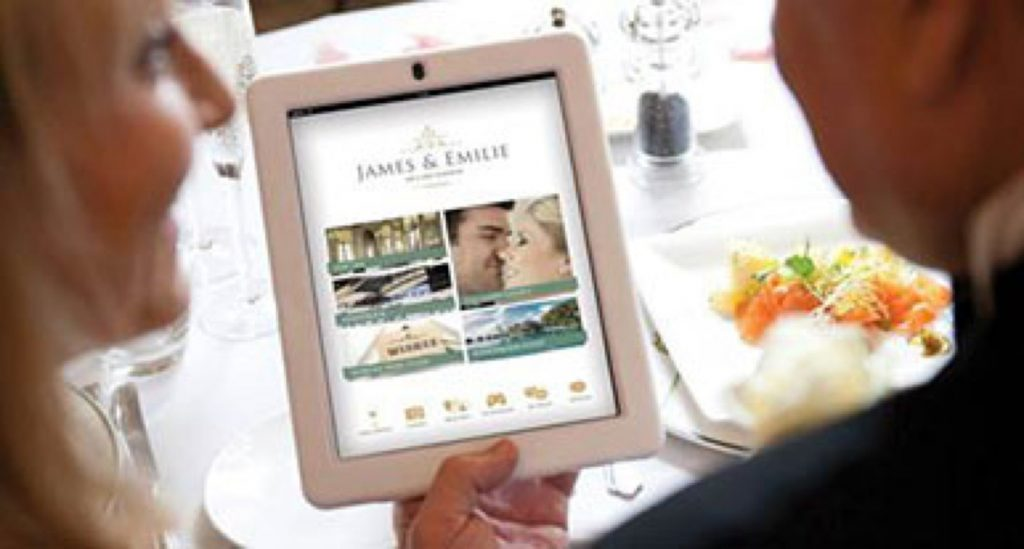 iPad with wedding website | Kelly Chandler Consulting