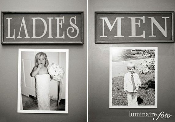 Ladies and gents loo black and white images | Kelly Chandler Consulting