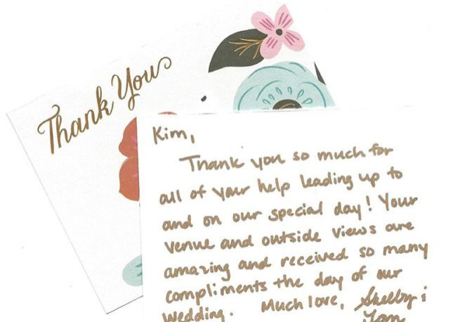 Hand written thank you card   Kelly Chandler Consulting