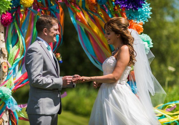 Bride and groom wedding vows | Kelly Chandler Consulting