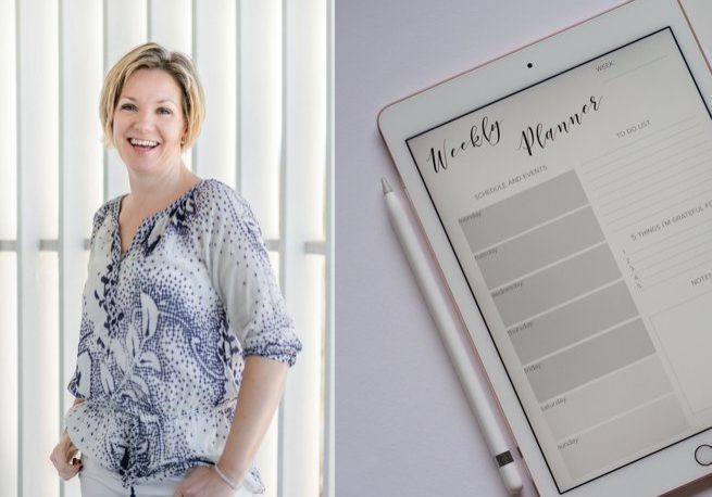 Kelly Chandler and weekly planner | Kelly Chandler Consulting